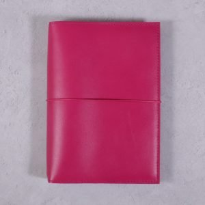 A5 – Fuchsia Pink Leather Cover