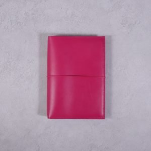 A6 – Fuchsia Pink Leather Cover