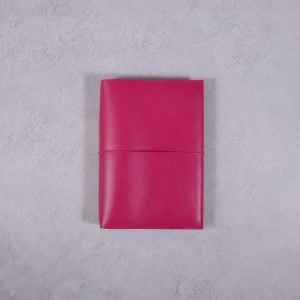 Pocket Size – Fuchsia Pink Leather Cover