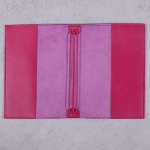 B6 – Fuchsia Pink Leather Notebook Cover