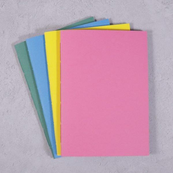 vibrant colour A5 notebooks pack 4