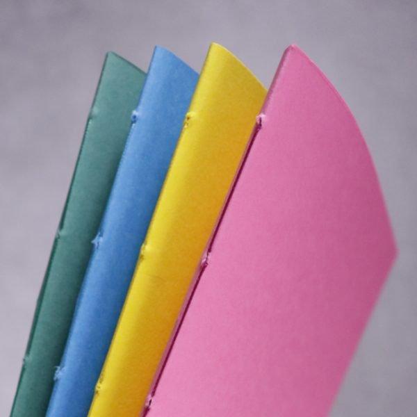 vibrant colour A5 notebooks pack 4 detail