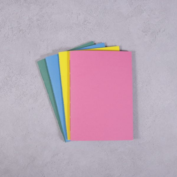 vibrant colour A6 notebooks pack 4