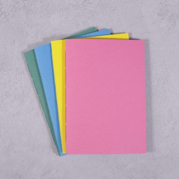 vibrant colour B6 notebooks pack 4