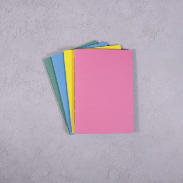 vibrant colour Pocket size notebooks pack 4