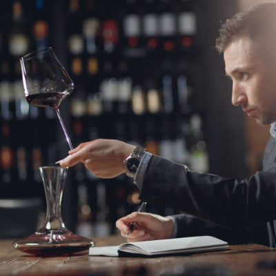 use a journal for wine tasting notes