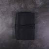 A6 black leather journal with tie