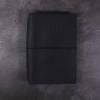 B6 black leather journal with elastic closure