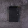 black leather small A6 flip notebook cover